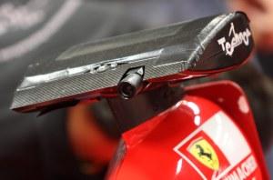 A Technos camera atop Nobles' Formula 1 car